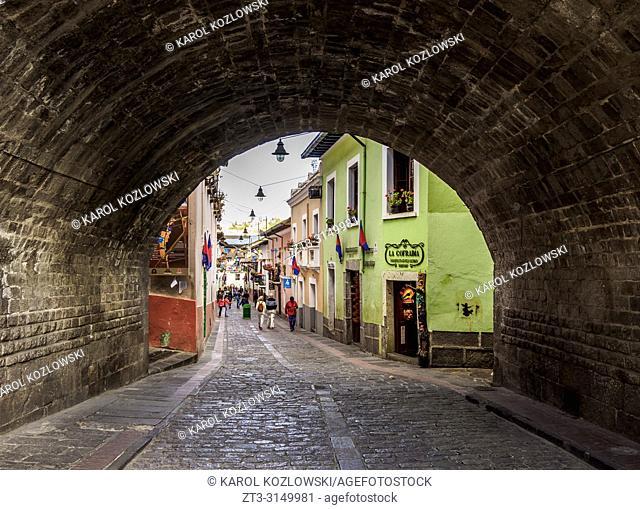 La Ronda Street, Old Town, Quito, Pichincha Province, Ecuador