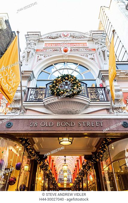 England, London, Old Bond Street, The Royal Arcade