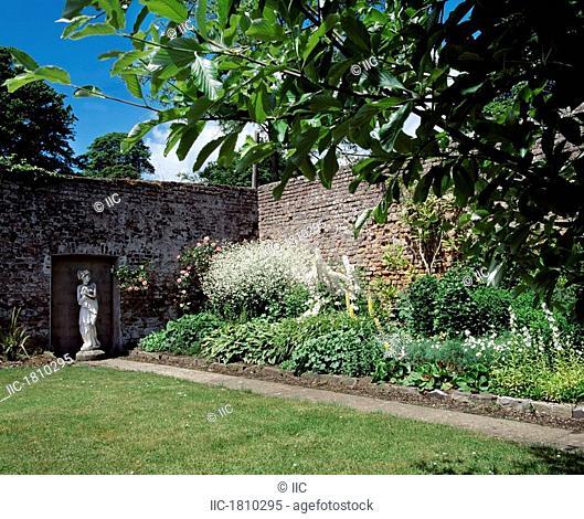 Lodge Park Walled Garden, Straffan, Co Kildare, Ireland, Herbaceous border in a garden