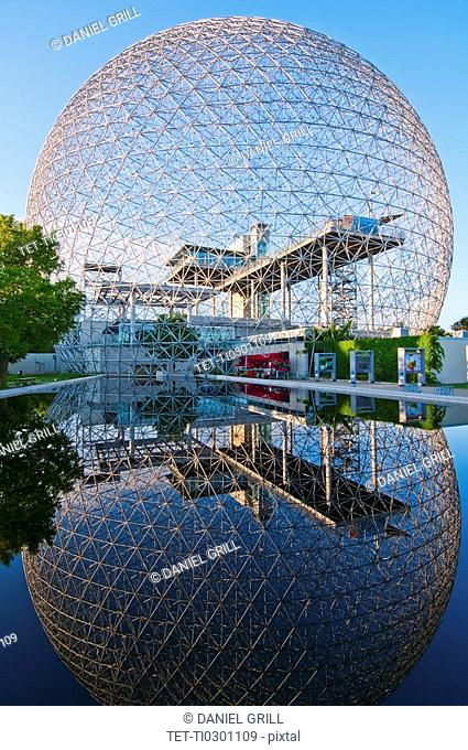 Biosphere reflected in water