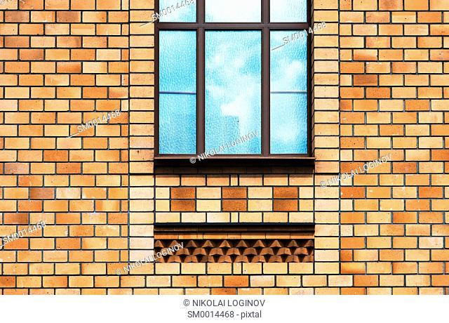 Vertical temple window city background hd