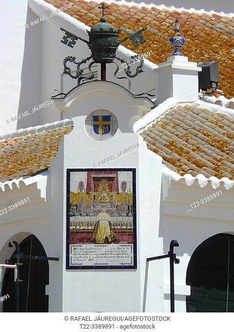 El Rocío (Huelva) Spain. Tribute to the visit of Pope John Paul II to the hermitage of El Rocío