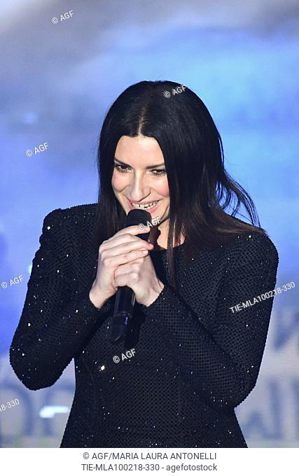 Claudio Baglioni, Laura Pausini during Sanremo Italian Music Festival, Sanremo, Italy 10/02/2018
