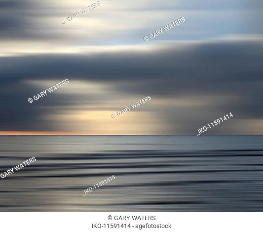 Abstract seascape with dramatic sky