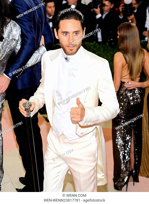 Metropolitan Museum of Art Costume Institute Gala: Manus x Machina: Fashion in an Age of Technology at the Met Museum Featuring: Jared Leto Where: New York City