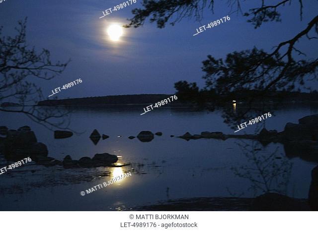 A blue moment at sunset in Pyhtää  Lohja, Finland