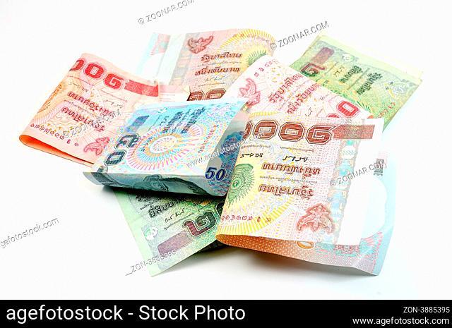 close up of thai money
