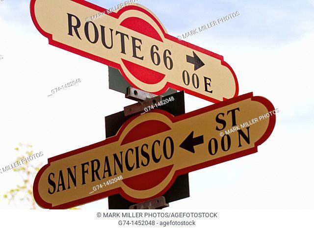 Route 66 sign, Flagstaff, Arizona, USA