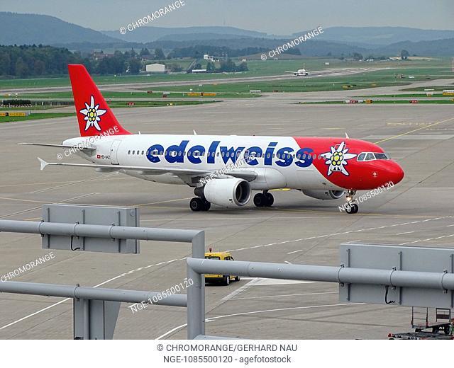 Airport Zürich Suisse Aircraft Airbus 319