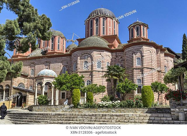 New Katholikon church, Xenophontos monastery, Mount Athos, Athos peninsula, Greece