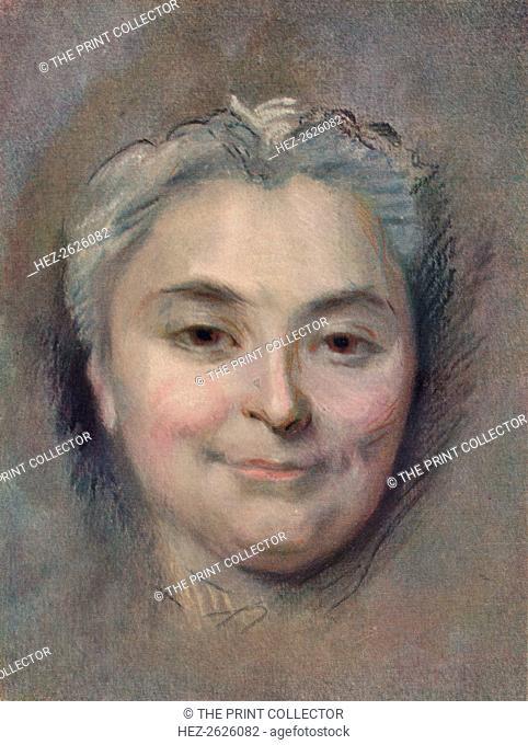 'Preparation to the portrait of Marie Catherine Dufloquet Reals, 1756. Artist: Maurice-Quentin de La Tour