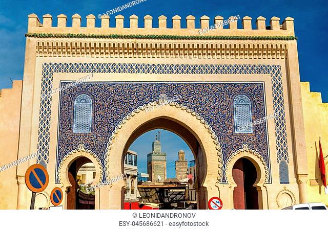Bab Bou Jeloud gate in Fez - Morocco