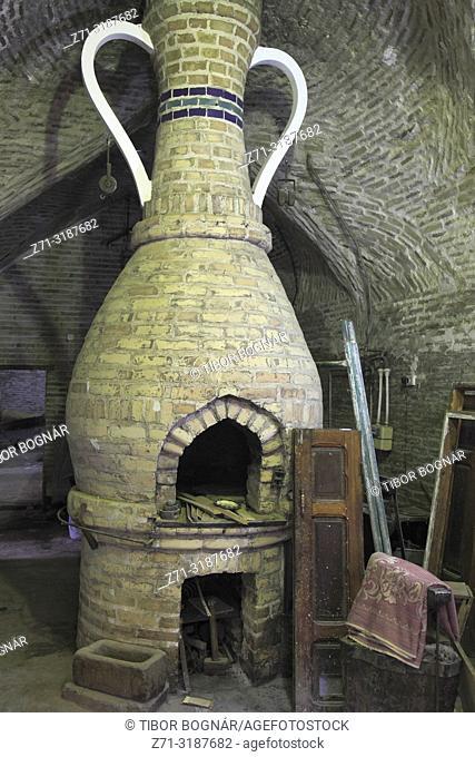 Uzbekistan; Bukhara; oven, blacksmith workshop,