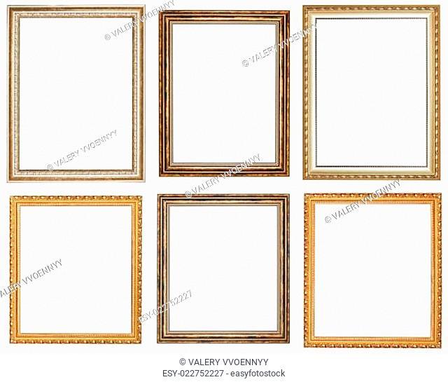 set of vintage wooden picture frames