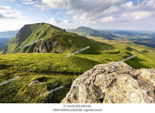France, Puy de Dome, Parc Naturel Regional des Volcans d'Auvergne (Regional natural park of the volcanoes of Auvergne), massif of Sancy