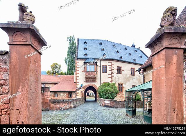 Büdingen Castle, entrance, gate, house view, historic old town, old town, Büdingen, Wetteraukreis, Rhine Main area, Hessen, Germany, Europe