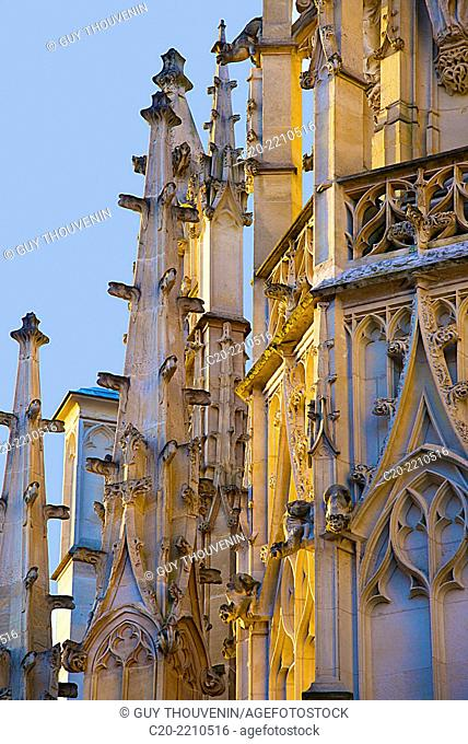 Law Courts ( detail ) , Rouen, Upper Normandy ,76000, France