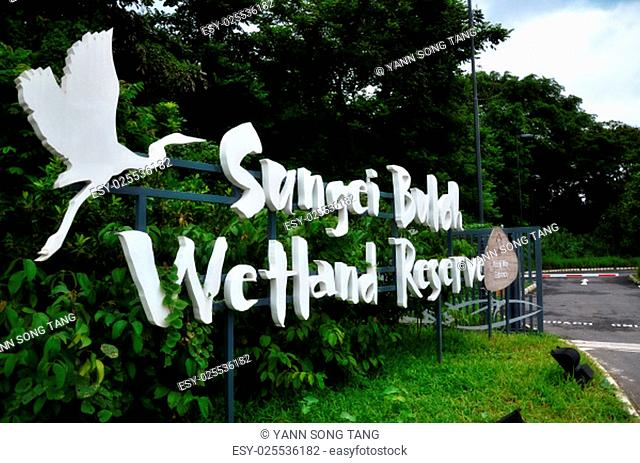 Entrance of Sungai Buloh Wetland Reserve in Singapore