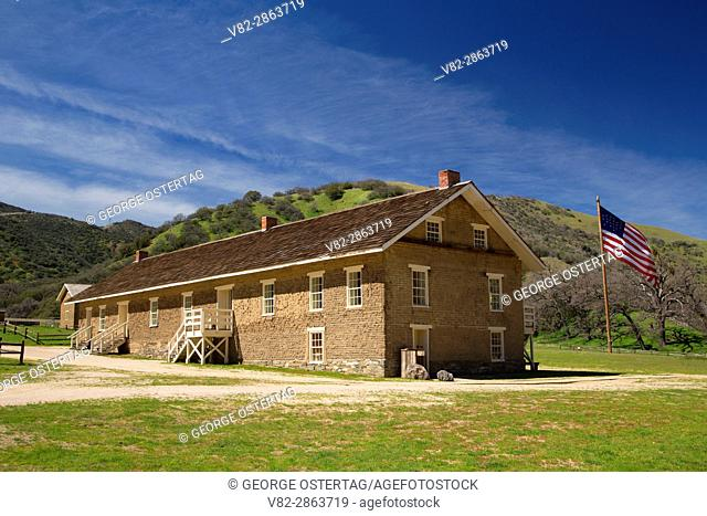 Barracks, Fort Tejon State Historic Park, California