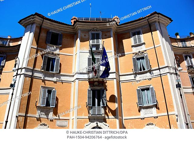 Administration building of the italian gendarmerie Carabinieri at the Piazza di Sant'Ignazio in Rome (Italy), 18 July 2017. | usage worldwide