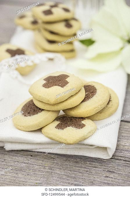 Black and white cookies for Christmas