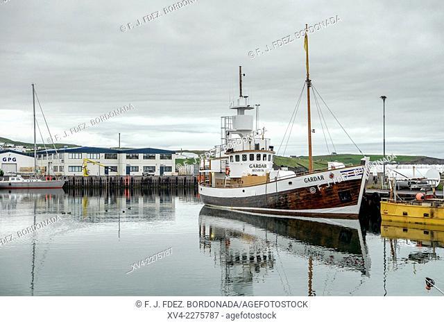 Husavik port. Iceland