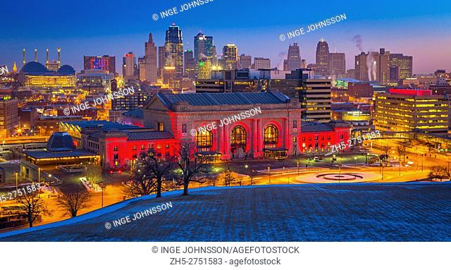 Kansas City (often referred to as K. C. ) is the most populous city in the U. S. state of Missouri. In 2010, it had a population of 459,787