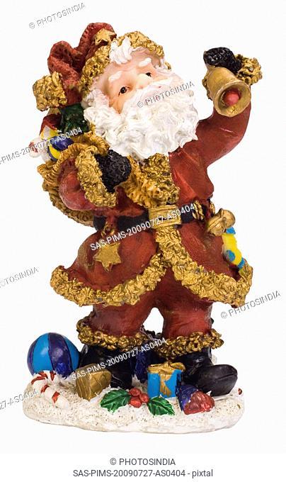 Close-up of a figurine of Santa Claus