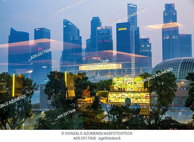 Marina Bay. Central Business District . City Skyline. Singapore. Asia