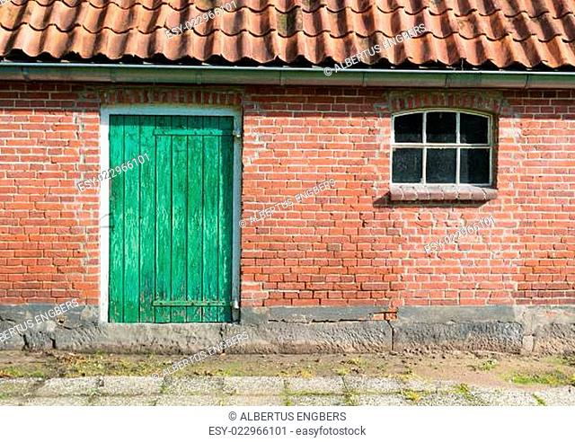 barn with green door