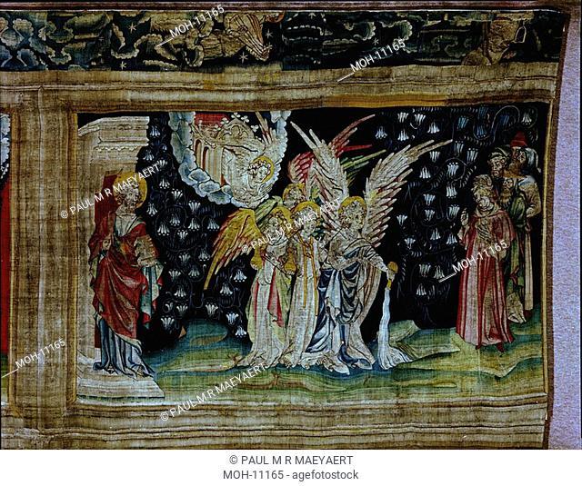 La Tenture de l'Apocalypse d'Angers, Le premier flacon versé sur la terre 1,52 x 2,44m, der erste Engel gießt die Schale aus auf die Erde