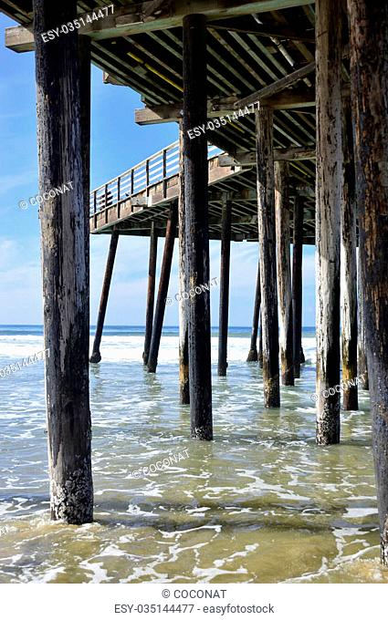 Pismo Beach Pier large wooden oceanfront in California