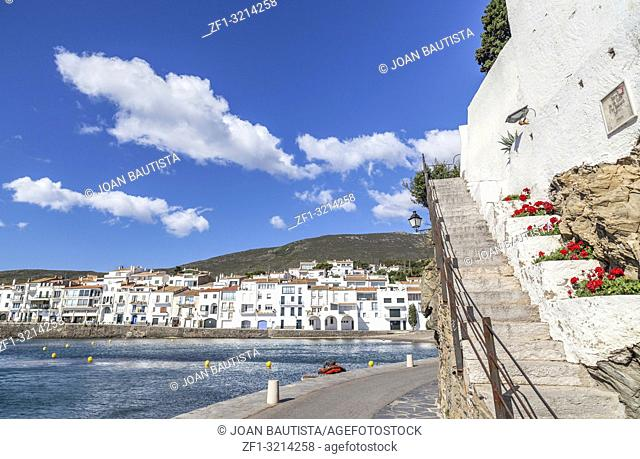 Cadaques, Catalonia, Spain. View of village
