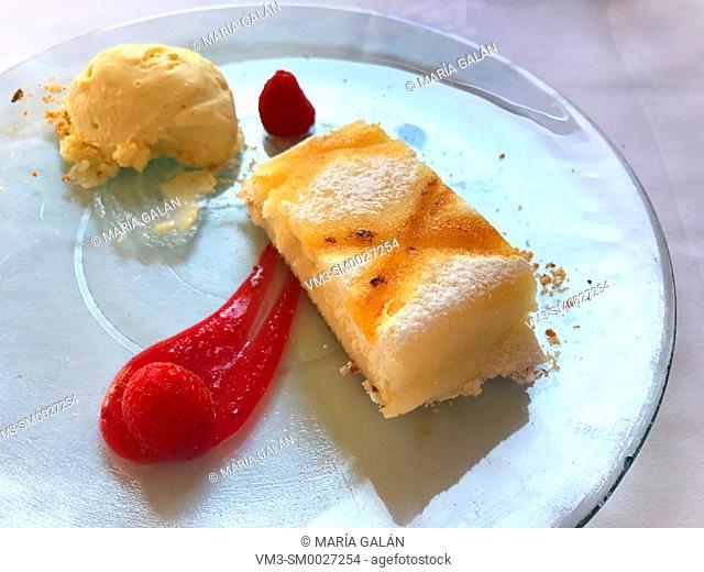 Ponche segoviano, traditional dessert. Segovia, Spain