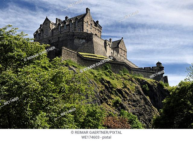 National War Museum of Edinburgh Castle fortress on the volcanic plug of Castle Rock in Edinburgh capital city of Scotland United Kingdom