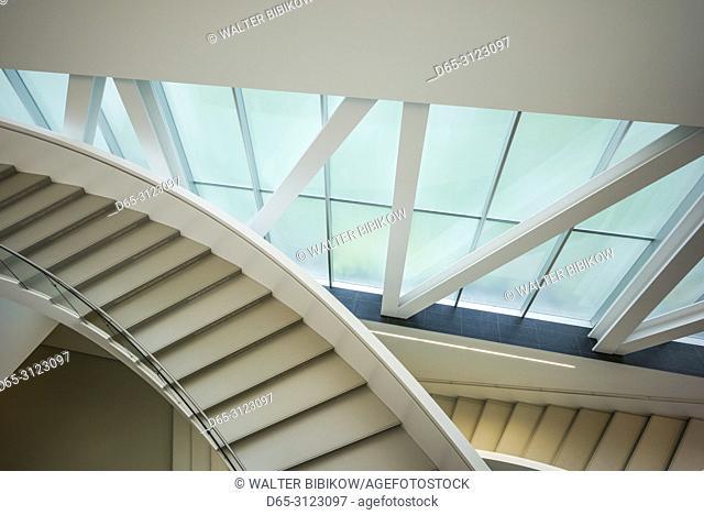 Canada, Quebec, Quebec City, Musee National des Beaux-Arts du Quebec, MNBAQ, pavillon Pierre-Lassonde, 2016, stairs