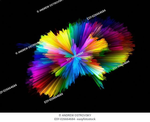 Color Explosion series. Composition of colorful streaks on the subject of design, art and imagination