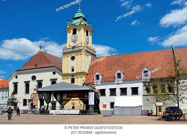 Old Town Hall with Municipal museum on the Main square of the Slovak capital Bratislava - Slovakia