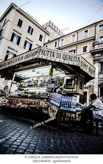 an ice cream van in Rome, Italy