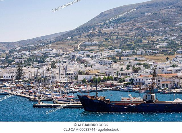 Port in Parikia, Paros, Greece, Western Europe