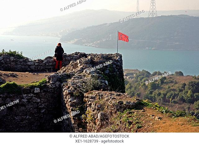 Straits of Bosphorus and Black Sea, views from the Yoros castle, Turkey