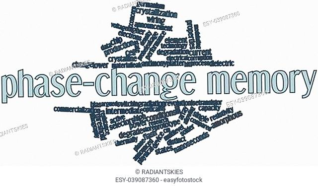 Abstract word cloud for Phase-change memory with related tags and terms