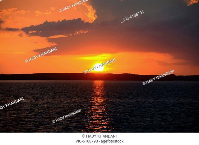 sunset over BAY OF CIENFUEGOS Cuba - 16/04/2016