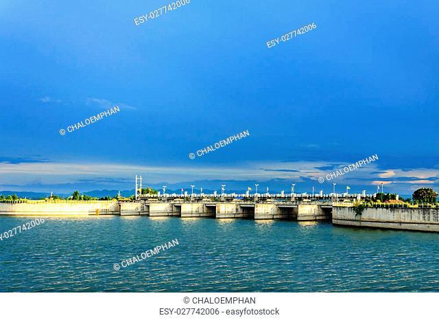 Pa Sak Jolasid Dam,Lopburi,Thailand