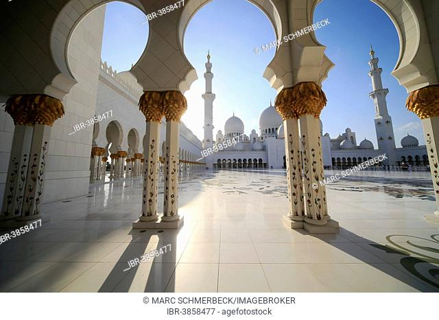 Sheikh Zayed Grand Mosque, Abu Dhabi, Emirate of Abu Dhabi, United Arab Emirates