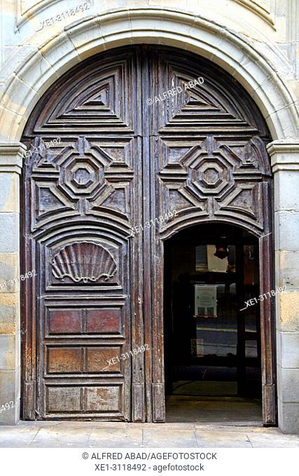 Door of the Church of Santo Domingo, Pamplona, Navarra, Spain