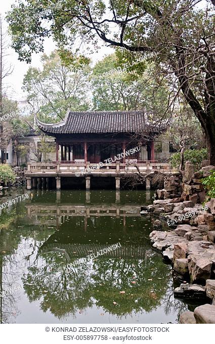 Jiushixuan pavilion (Nine Lions House) in YuYuan Garden in Shanghai, China