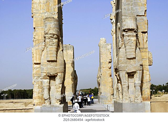 Iran. Persepolis- Closer View of Xerux Gateway No. 2