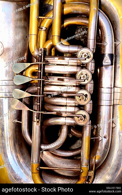 Detail of a Tuba. Celebration of Remedios in Castro Caldelas, Orense, Spain