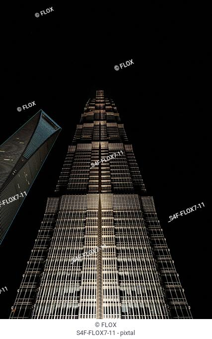 China, Shanghai, Jin Mao Tower und Shanghai World Financial Center